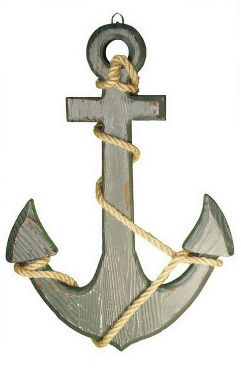 Wooden Anchor Wall Decor by Vtg Anchor Wood Rope Ship Boat Pirate Nautical Maritime