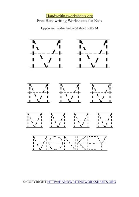 uppercase handwriting worksheets a z by letter