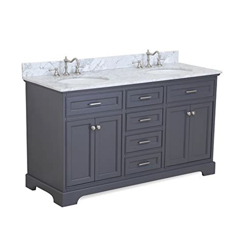 charcoal grey bathroom vanity aria 60 inch double bathroom vanity carrara charcoal gray