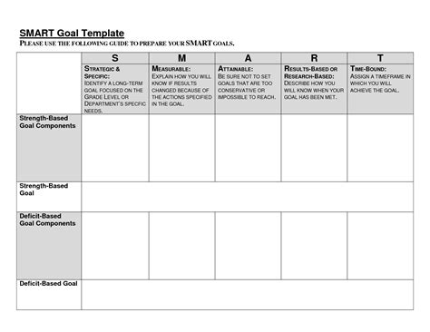 smart goal setting template smart goals worksheet fioradesignstudio