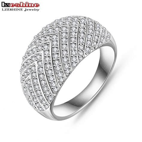 new pattern gold ring lzeshine brand 2016 new style arrow pattern ring silver