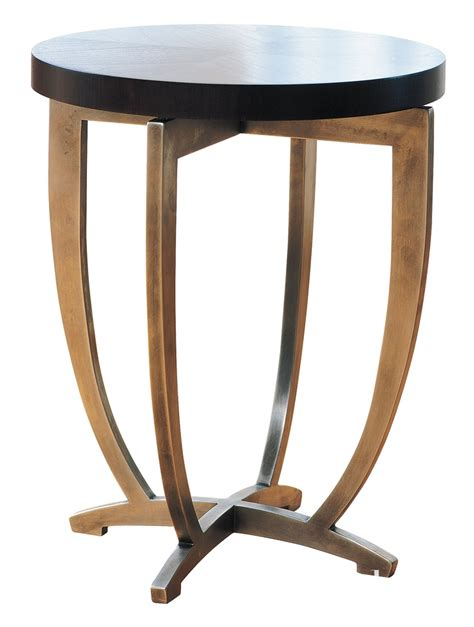 martini side powell bonnell cocktail table black and brass tables