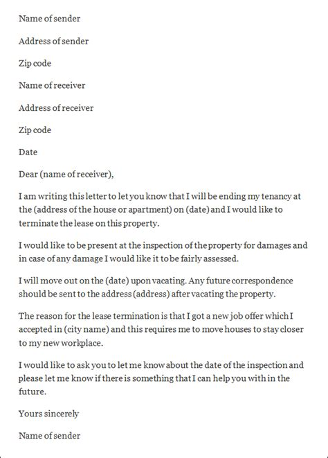 termination letter apartment lease best photos of lease termination letter lease