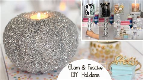 how to make a glitter candle diy home decor 187 the real holiday diy decor chic holder glitter pumpkin candle
