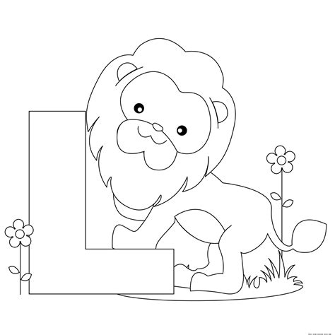 Printable Animal Alphabet Letter L Is For Lion Free Spring Coloring Pages To Printl L