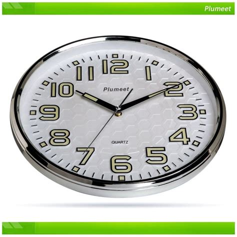 best wall clock plumeet non ticking silent wall clock with night lights