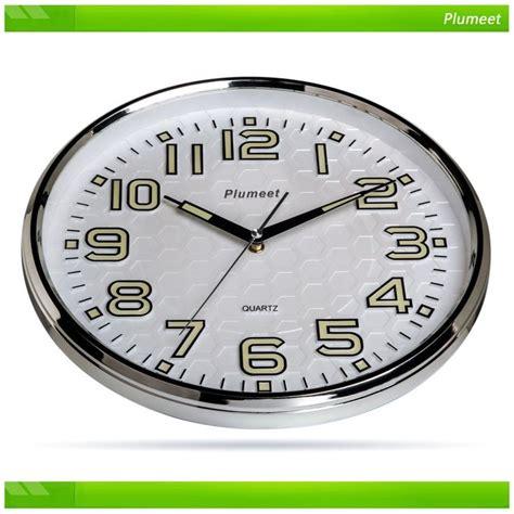 best wall clock plumeet non ticking silent wall clock with night lights