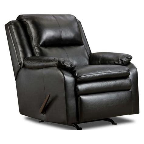 rocker recliner nebraska furniture mart two of these bad boys black bonded leather rocker