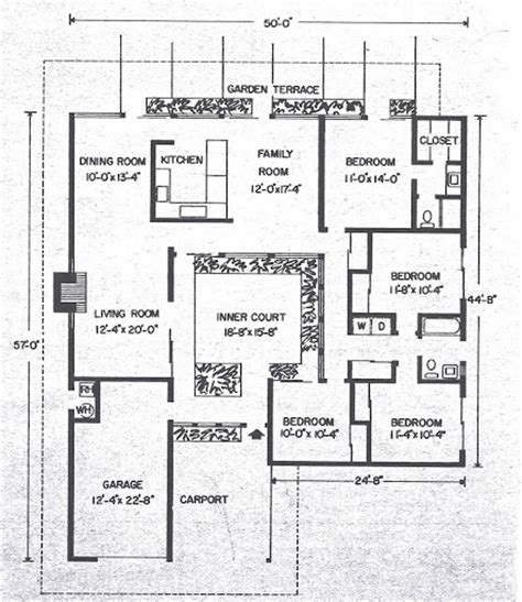 Eichler Atrium Floor Plan by Atrium Model 4 2 Eichler Floor Plan