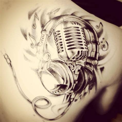 studio microphone tattoo designs the gallery for gt studio microphone tattoo
