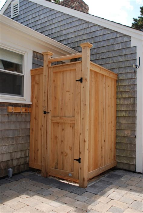 outdoor cedar shower standard cedar outdoor shower enclosure boston by cape