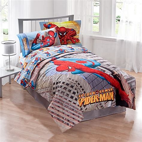marvel 174 spider man twin comforter set bed bath beyond