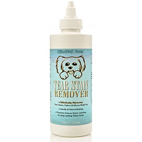shih tzu eye boogers tear stain remover most effective white fur eye treatment best solution for