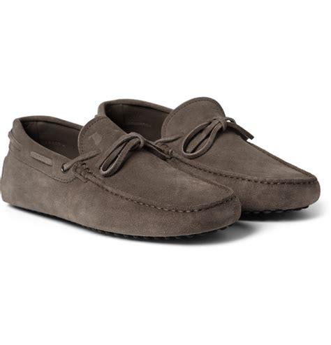 driving shoes tod s gommino suede driving shoes in brown for lyst
