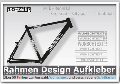 Fahrrad Aufkleber Bestellen by Fahrrad Aufkleber Wunschtext Beschriftung Mtb Rennrad