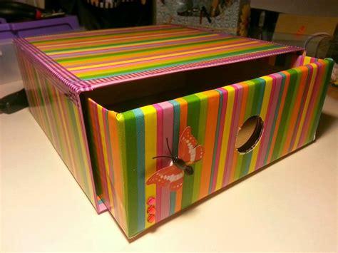 ideas para reciclar las cajas de cart 243 n de tu hogar caja - Decoracion De Cajas De Carton Reciclado