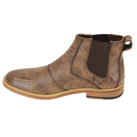 mens leather ankle boots voeut mens simon ankle leather look boots brown