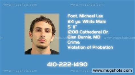 Arundel County Arrest Records Foot Michael Mugshot Foot Michael Arrest Arundel County Md