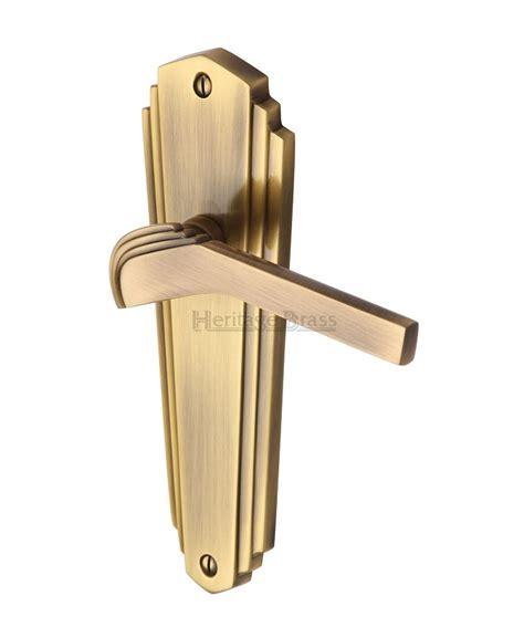 heritage brass antique brass wal6510 waldorf deco door