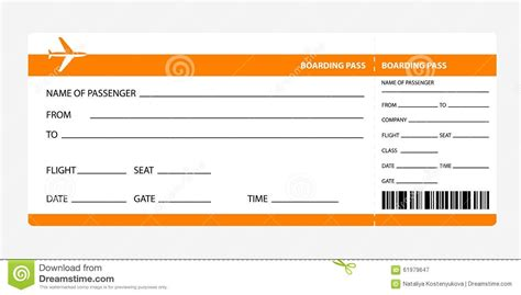 Boarding Card Template by Boarding Pass Template Beepmunk