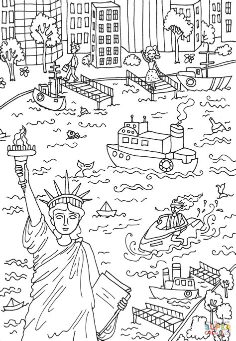 statue of liberty coloring page the statue of liberty coloring page free printable