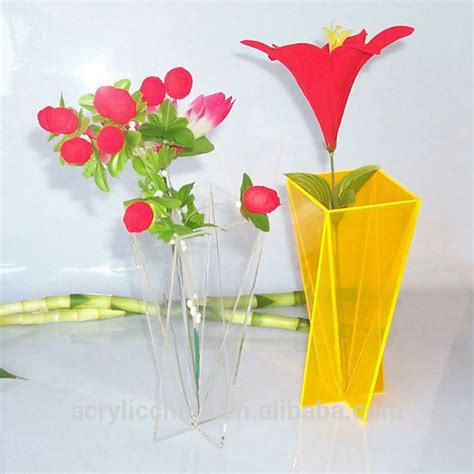 home decor acrylic vases wholesale beautiful clear