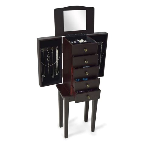 mirrored jewelry cabinet armoire wooden mirrored jewelry cabinet armoire makeup box