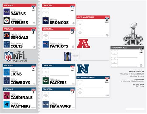 printable nfl playoff schedule 2014 nfl playoff schedule 2015 printable 2015 super bowl