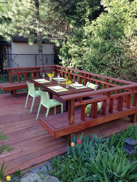 decks with benches built in backyard deck with built in benches reno ideas pinterest
