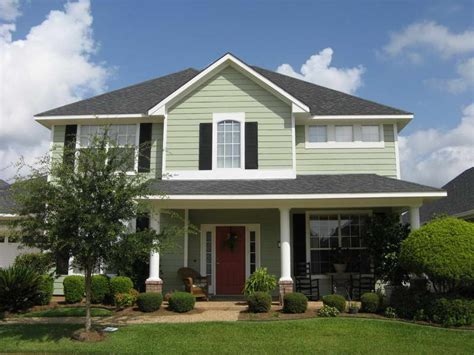 green colored houses bloombety exterior paint color ideas with light green