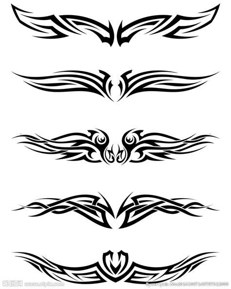 尖锐对称纹身花纹 纹身图案