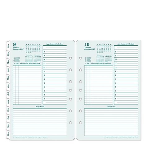 original ring bound one page per day planner franklincovey