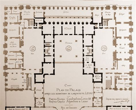 versailles floor plan figure 44 floor plan of versailles alice pinterest