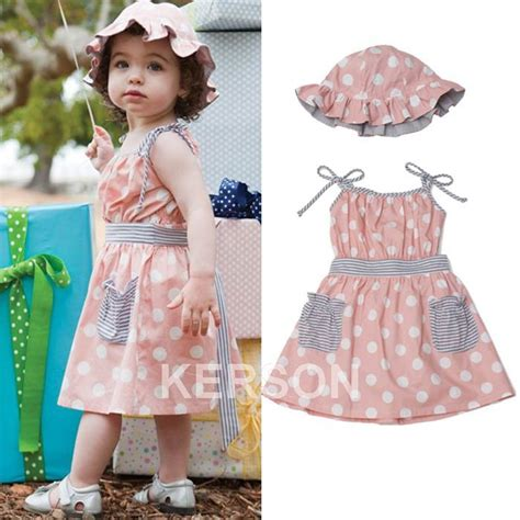 Dress Babycute Coksu free shipping baby sleeveless pink dot dress summer hat baby wear kid s clothes dress