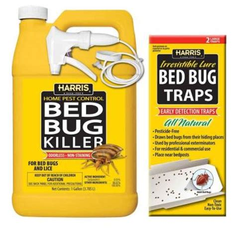 harris bed bug traps harris 1 gal bed bug killer and bed bug trap value pack