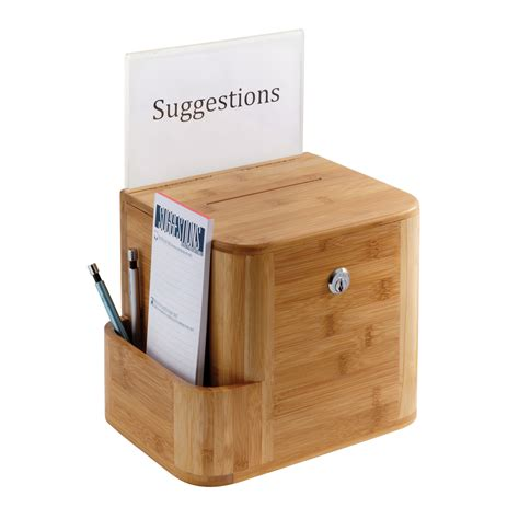 boxes ideas bamboo suggestion box safco products