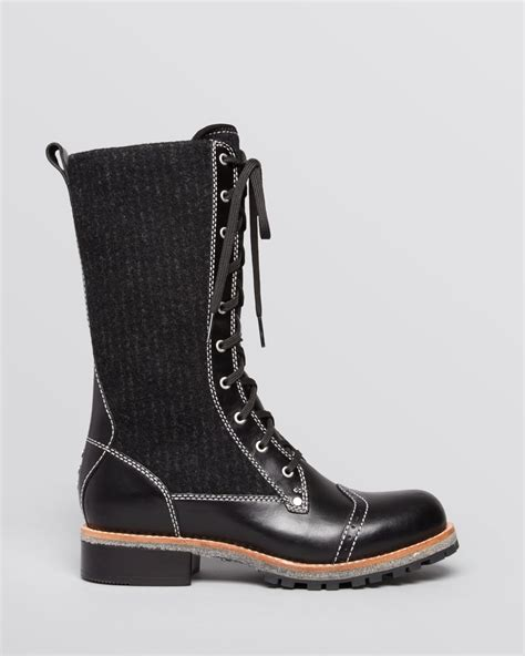 lug boots woolrich lace up lug sole boots in black metal conductor