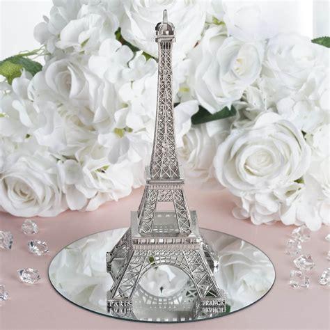 treasured affection eiffel tower centerpiece 10 quot silver
