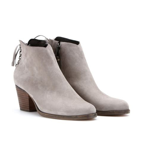 gray suede boots rag bone bannon suede ankle boots in gray grey lyst
