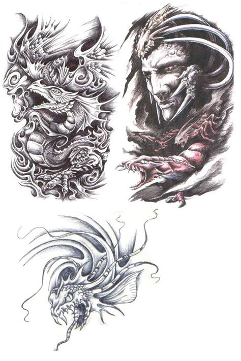 tattoo tribal motivy tattoos dragon tattoo stencils 3