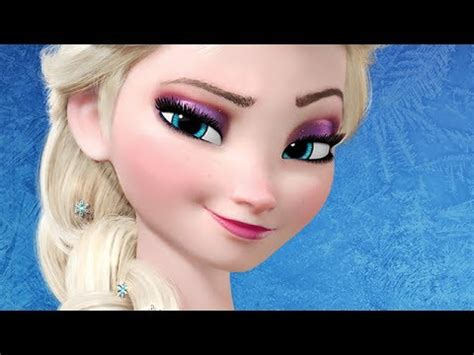 queen elsa makeup tutorial disney s frozen elsa inspired makeup tutorial youtube