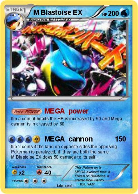 M Blastoise Ex 30146 Ultra pok 233 mon m blastoise ex 4 4 mega power my card