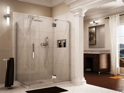 Shower Curtains For Glass Showers 7 Reasons To Choose A Shower Door A Shower Curtain