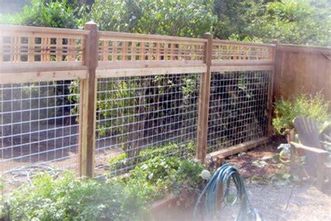 residential wood  wire fencing garden pinterest
