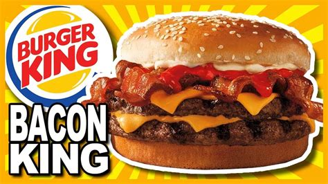bacon king at burger king review youtube
