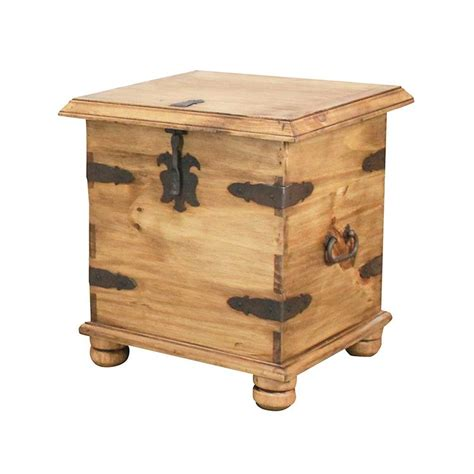 rustic pine collection end table trunk lat106