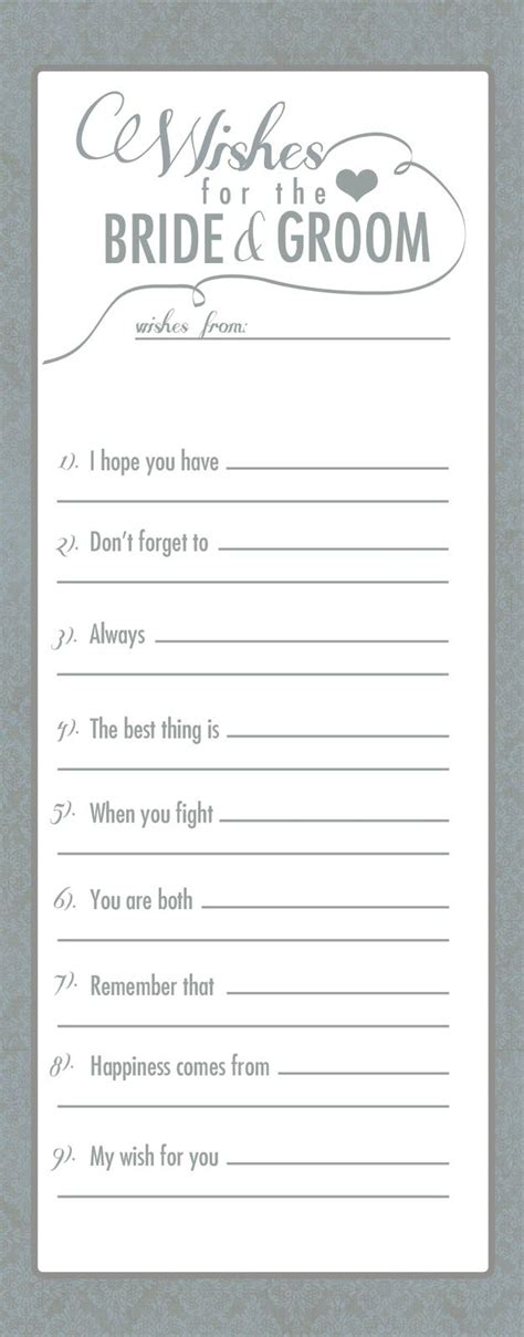 bridal shower advice game printable advice printables for bride to be just b cause