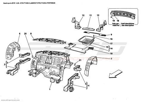 maserati parts catalog maserati quattroporte 4 2l boite f1 2007 structural frames