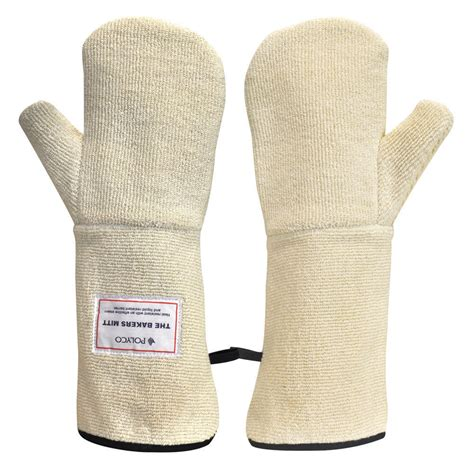 Heat Resistant Mittens polyco bakers mitt heat resistant oven mittens white
