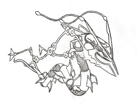 pokemon coloring pages gallade mega rayquaza by xxd17 on deviantart